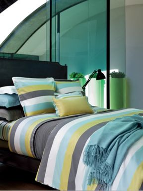 Yves Delorme Spatial ice bed linen