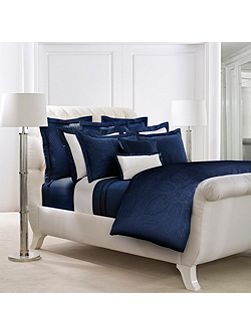 Doncaster navy double flat sheet