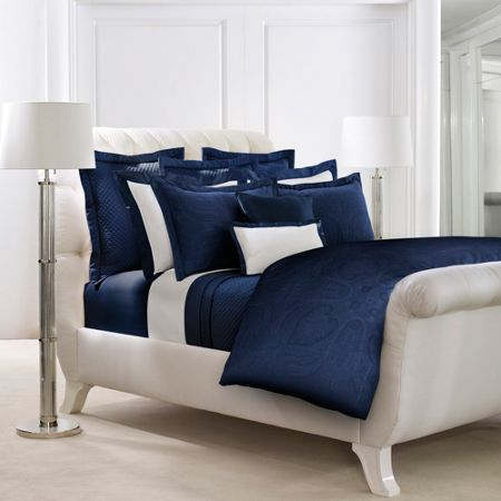 Ralph Lauren Home Doncaster navy king/super king flat sheet