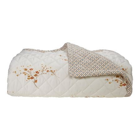 Yves Delorme Tokaido Caramel double bed cover