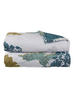 Calicot Peacock double bed cover