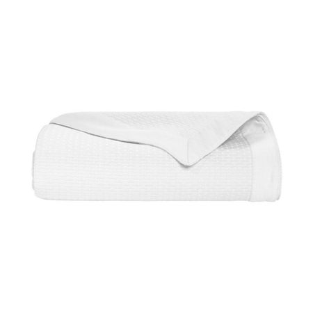 Yves Delorme Morphee Blanc king bed cover