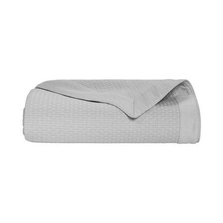 Yves Delorme Morphee Platine king bed cover