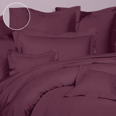 Olivier Desforges Alcove aubergine fitted sheet 180x200