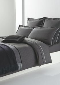 Circles bed linen in charcoal