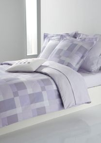 Misty lilac single flat sheet 180x290