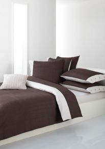 Structure brown double duvet cover 200x200