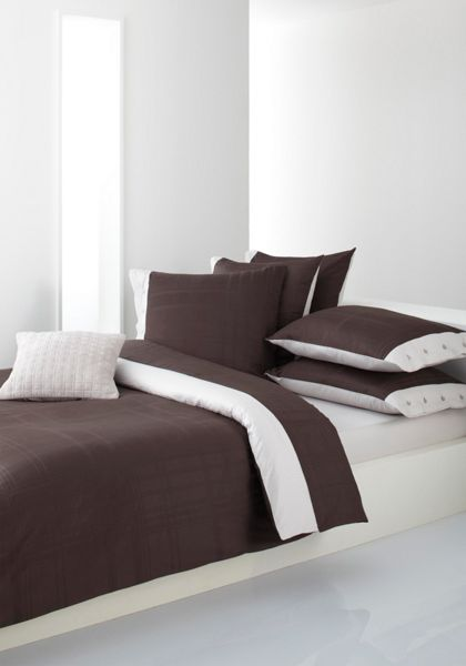 Hugo Boss Structure brown single flat sheet 180x290