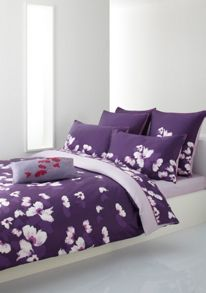 Hugo Boss wind bedlinen in purple