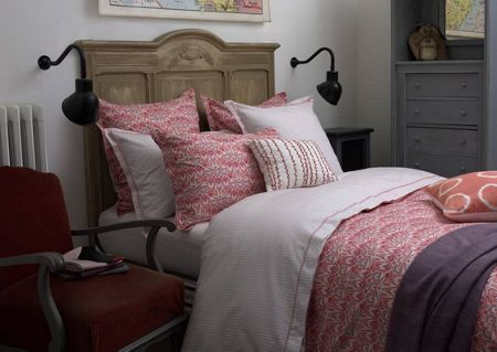 Olivier Desforges Semirami corail king size fitted sheet