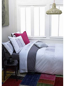 Flore blanc double duvet cover