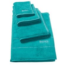 Hugo Boss Plain Almond bath towel range