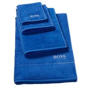 Hugo Boss Plain Touareg Blue bath towel range