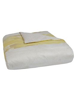 Illusion yellow super king fitted sheet