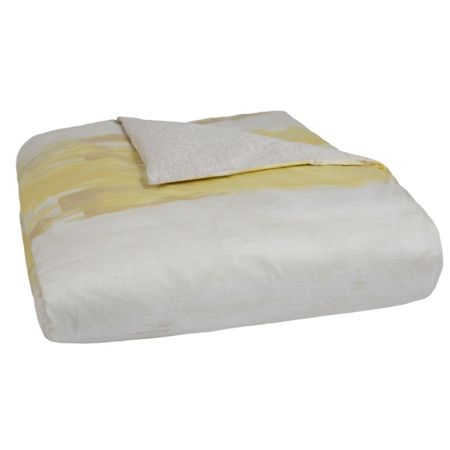 Hugo Boss Illusion yellow king size fitted sheet