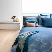 Waterwalk blue king / super king flat sheet