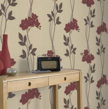 Graham & Brown Red Serene Wallpapaer