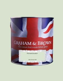 Graham & Brown Matt emulsion after dinner mint paint