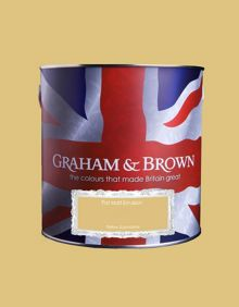 Graham & Brown Matt emulsion yellow submarine paint