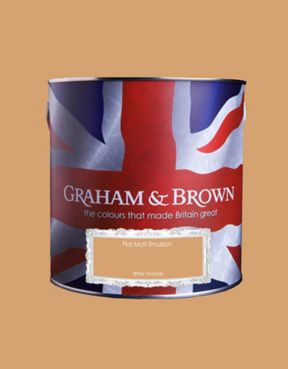 Graham & Brown Matt emulsion bitter shandy paint