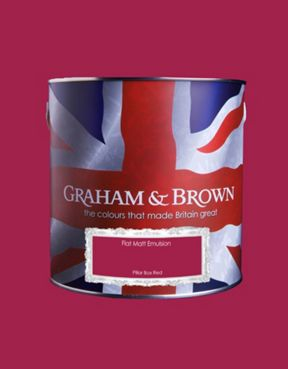 Graham & Brown Matt emulsion pillar box red paint