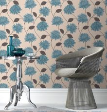 Graham & Brown Teal Romance Wallpaper