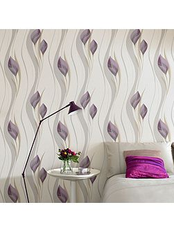 Plum & Cream Peace Wallpaper Sample