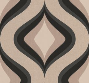 Graham & Brown Charcoal Trippy Wallpaper