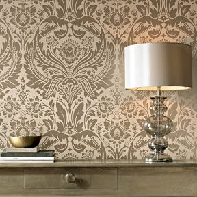 Graham & Brown Cream Taupe Desire Wallpaper