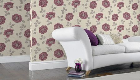 Graham & Brown Red Flavia Wallpaper