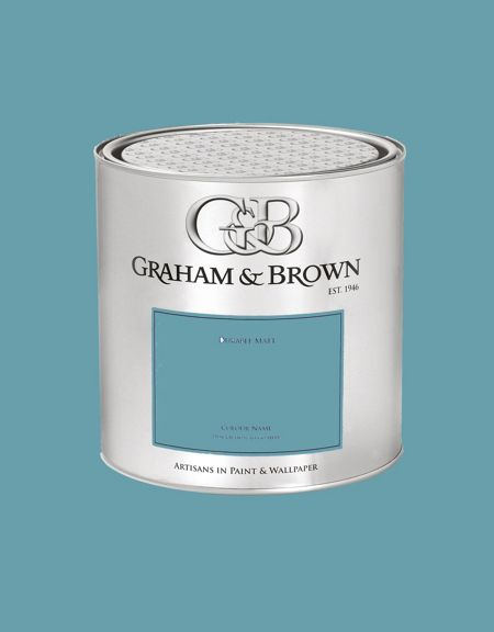Graham & Brown 100ML premium matt emulsion hoorn blue paint