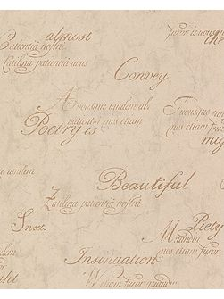 Concrete Script Gold Wallpaper Sample