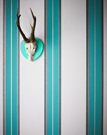 Graham & Brown Teal Harlow Wallpaper