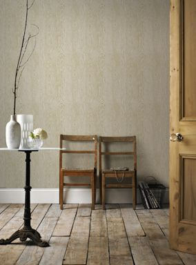 Graham & Brown Beige & Gold Leaf Design Wallpaper