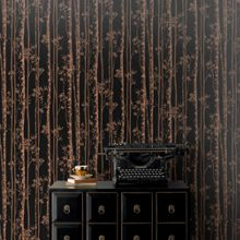 Graham & Brown Linden Black & Copper Branch Shimmer Wal