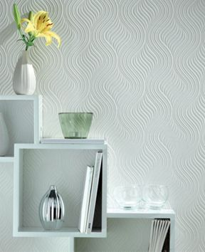 Graham & Brown White Pure Wallpaper