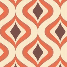 Graham & Brown Chocolate Orange Trippy Wallpaper