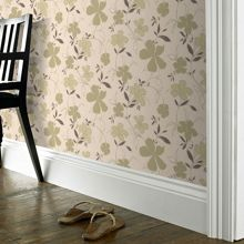 Graham & Brown Green Cream Rapture Wallpaper