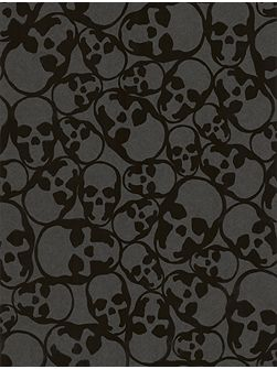 Black skull midnight wallpaper