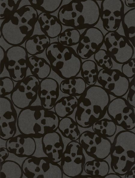 Graham & Brown Skulls Midnight Wallpaper Sample