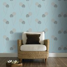 Graham & Brown Blue duck egg essence alium wallpaper