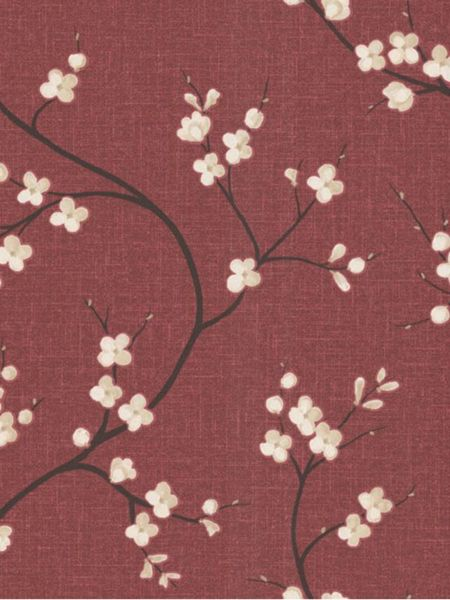 Graham & Brown Red crimson solace essence wallpaper