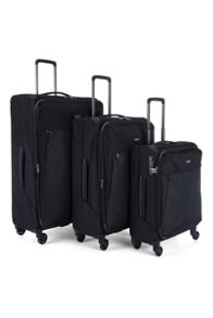 Antler Oxygen Black 4 Wheel Luggage Set