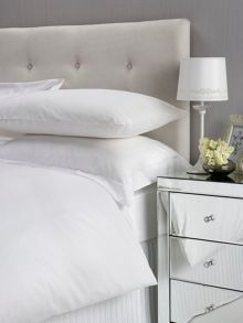 Satin bed linen range in white