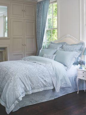 Christy Marianne double duvet cover in teal