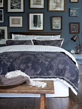 Christy Batik bed linen in charcoal
