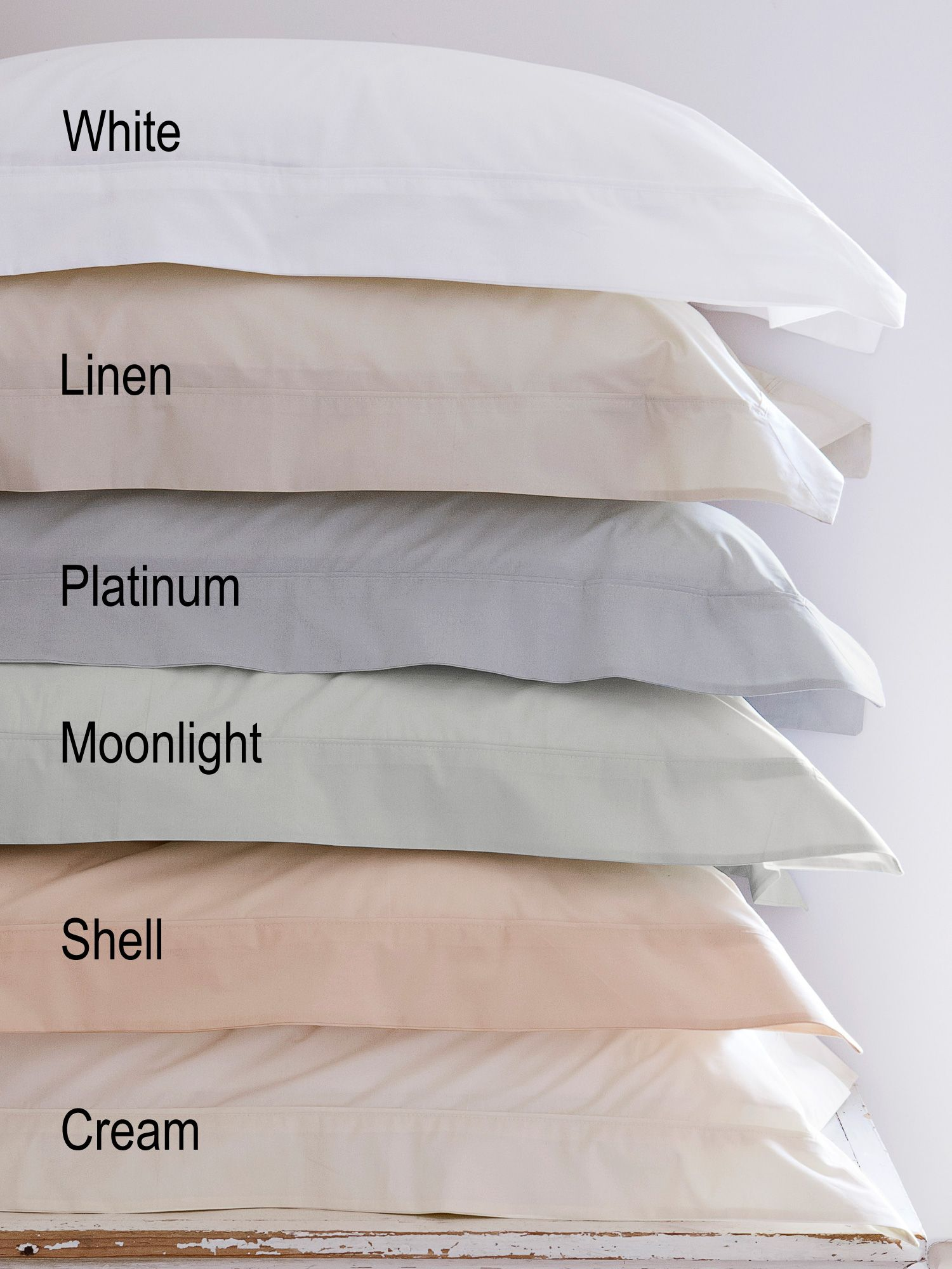 250 thread count rectangle pillowcase in platinum