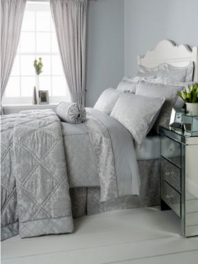 Christy Regency bed linen in silver