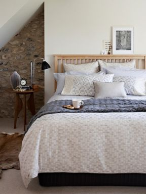 Christy Domino bed linen in neutral