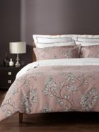 Christy Etched floral bed linen in old rose